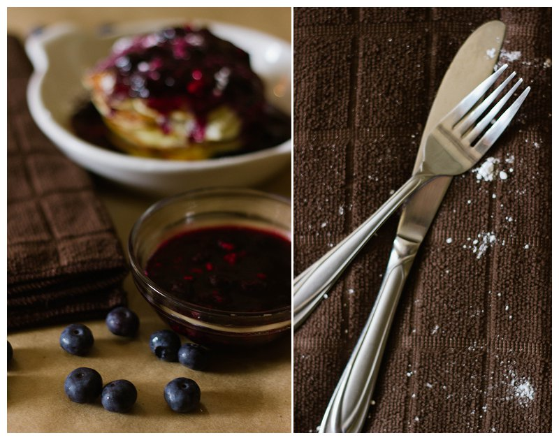Food Photography, Photo Styling, Pancakes, Blueberries