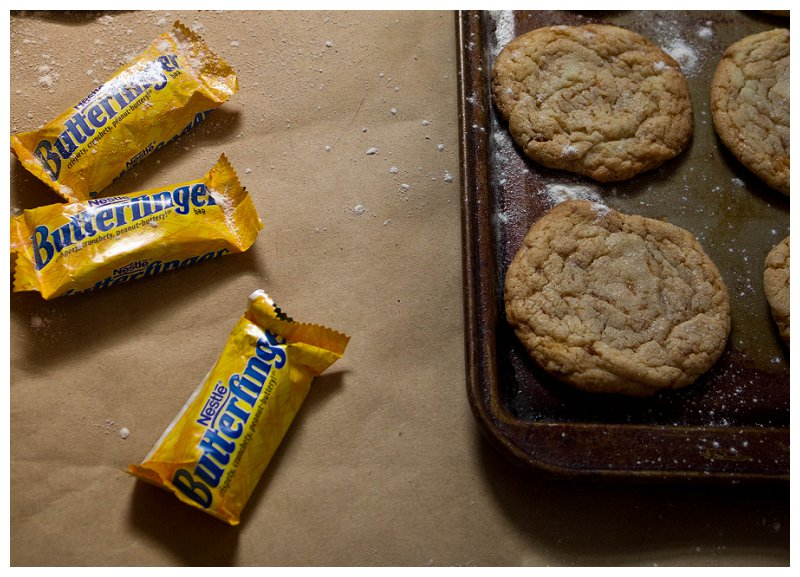 Butterfinger, candy, cookie