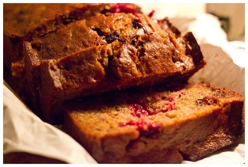 chocolate raspberry banana bread